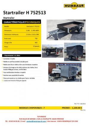 PROMOTION remorque utilitaire 1 essieu 750 kg avec bâche haute