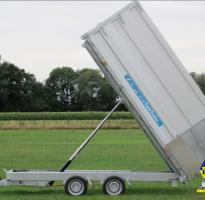 REMORQUE TWIN TRAILER BENNE ET PORTE-ENGINS  3500KG