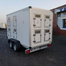 REMORQUE TRANSPORT DE CHIENS 12 BOXES