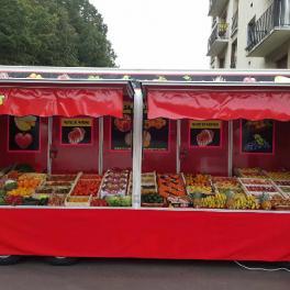 MARAICHER DOLLY REMORQUE MAGASIN FOOD-TRAILER 3500KG