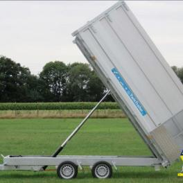 REMORQUE TWIN TRAILER BENNE ET PORTE-ENGINS  3500KG